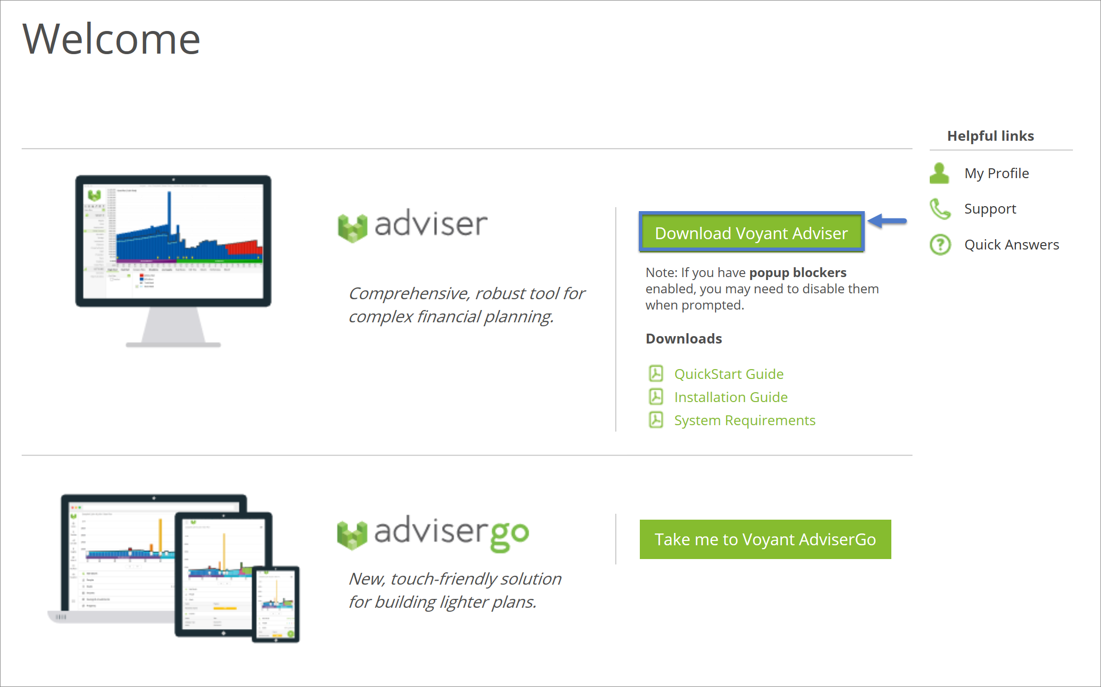 Install Voyant Adviser on a new or an additional computer or
