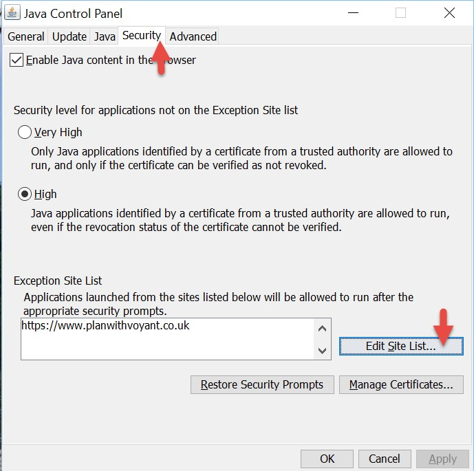 Application Blocked By Java Security Message When Installing Voyant